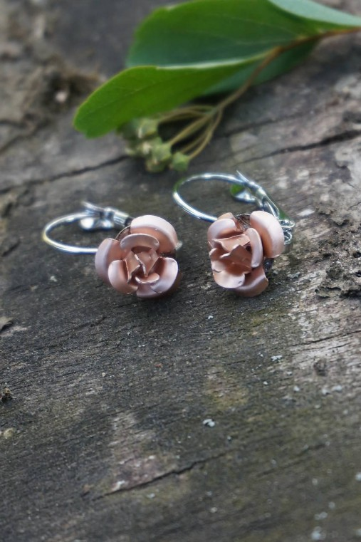 Náušnice ružičky
