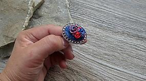Prstene - Prsteň veľký s kvetmi, č. 2666 - 10688115_