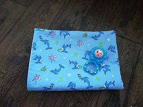 Textil - Bavlneno fleecova deka Sea world pre deti - 10687781_