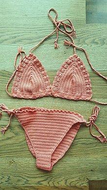 Bielizeň/Plavky - Háčkované bikiny - 10688344_