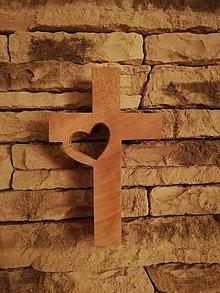 Drobnosti - Drevený kríž - 10689992_