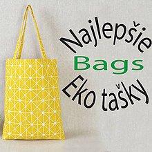 Nákupné tašky - Žltá plátená eko nákupná taška , zero waste - 10687053_