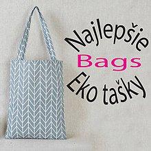 Nákupné tašky - šedá, plátená eko nákupná taška , zero waste - 10687061_
