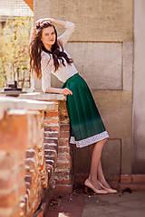 Sukne - Ručne plisovaná sukňa - Zelená - 10687550_