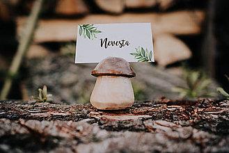 Darčeky pre svadobčanov - Menovky hríby - 10690215_
