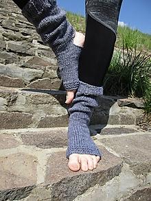 Obuv - sivé ponožky na jógu - 10688837_