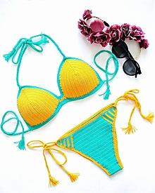 Bielizeň/Plavky - Háčkované plavky LIMONE - 10687941_