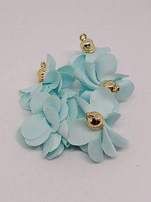 Polotovary - Textilné kvety - pár (Svetlomodrá) - 10686967_