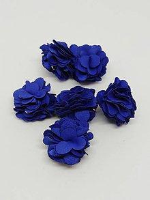 Polotovary - Strapček- gulička kvet - pár (Modrá) - 10687006_