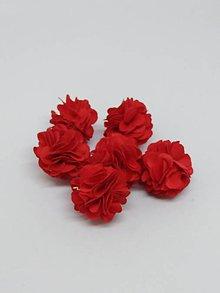 Polotovary - Strapček- gulička kvet - pár (Červená) - 10687011_
