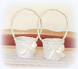 Košíky - košík svadobný - maslová - 10688953_