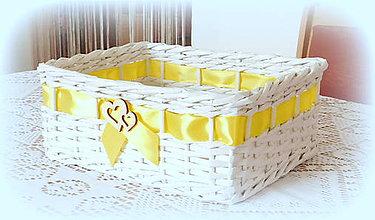 Košíky - košík na pierka - v zltom - 10689070_