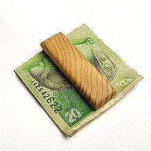 Tašky - Drevená spona na peniaze - smreková - 10687501_