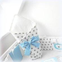 Textil - Zavinovačka z kolekcie Basic svetlomodrá - 10690903_