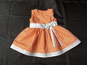 Detské oblečenie - Detské bavlnené saty oranžové veľ.86-140 - 10691394_