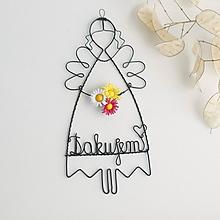 """Detské doplnky - anjelik s kvetom """" Ďakujem """" - 10692285_"""