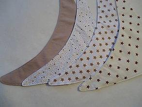Detské doplnky - Poloslintáčik pre bábätko - hnedá hviezdička - 10692573_