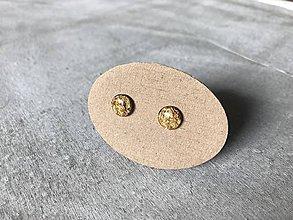 Náušnice - Zlaté mini ďobky - 10693114_