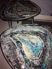 Nábytok - lel art design mineral-  stolík - 10691658_