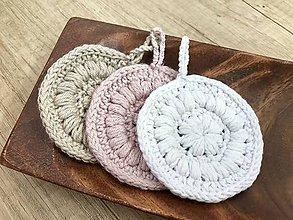 Úžitkový textil - Jemné kozmetické tampóny (Biela) - 10691974_