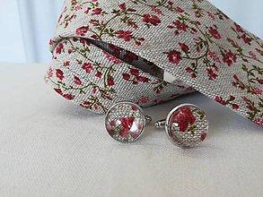 Šperky - Manžetové gombíky - kvety - 10693123_