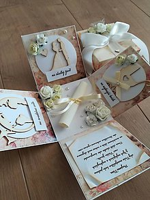 Papiernictvo - Blahoželanie na svadbu - krabička na peniaze - 10690828_