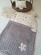 Textil - Detský vak na spanie - do postieľky  aj do kočiara - 10692097_