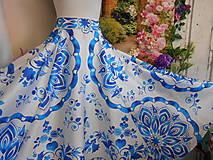 """Sukne - FLORAL FOLK """" Slovenská ornamentika """", spoločenská dlhá sukňa - 10692986_"""