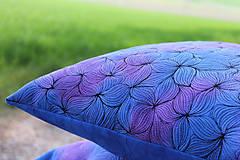 Úžitkový textil - V barvách hortenzií I - povlak - 10691397_