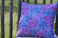 Úžitkový textil - V barvách hortenzií I - povlak - 10691401_
