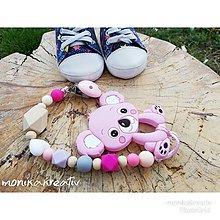 Detské doplnky - Hryzatko koala ružová - 10692560_