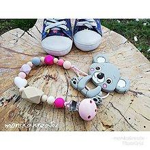 Detské doplnky - Hryzatko koala šedá - 10692567_