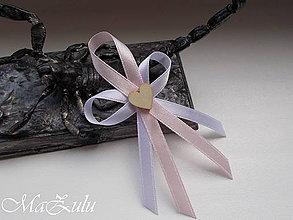 Pierka - Svadobné pierka s dreveným srdiečkom - 10691741_