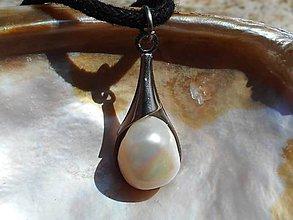 Náhrdelníky - perla-slza Bohov - 10693002_