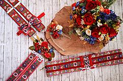 Pierka - Folk väčšie svadobné pierko - 10691989_