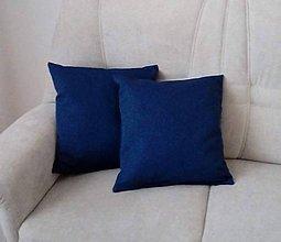 Úžitkový textil - vankúš indigo blue - 10690657_