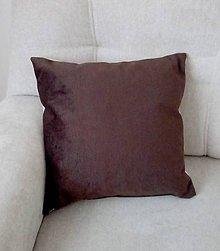 Úžitkový textil - vankúš bežovo-hnedý - 10690666_