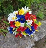Dekorácie - folklórna kytica z lúčnych kvetov pre nevestu - 10692189_