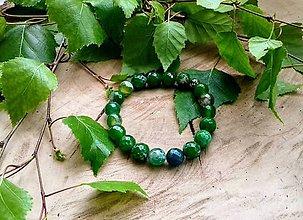 Náramky - Smaragdovo zelený achát - 10691292_