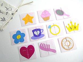 Hračky - Montessori pexeso: Sladký dievčenský svet (10 párov) - 10690527_