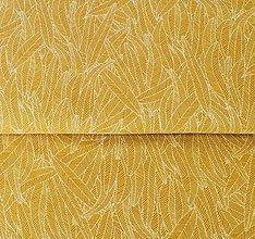 Textil - bavlnený úplet Okrové lístky - 10690579_