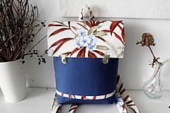 Batohy - Batoh modré kvety - 10691983_