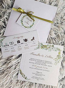 Papiernictvo - Svadobný program greenery - 10690384_
