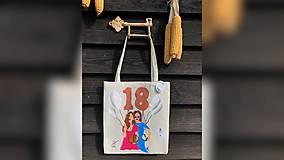 Iné tašky - ♥ Plátená, ručne maľovaná taška ♥ - 10690699_