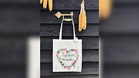 Nákupné tašky - ♥ Plátená, ručne maľovaná taška ♥ (MI4) - 10690728_