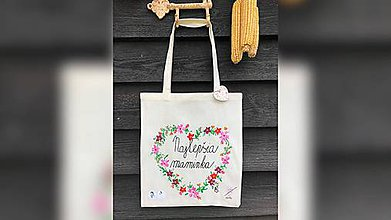 Nákupné tašky - ♥ Plátená, ručne maľovaná taška ♥ (MI4) - 10690721_