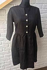 Šaty - Šaty na dojčenie ME TOO - čierne button - 10693163_