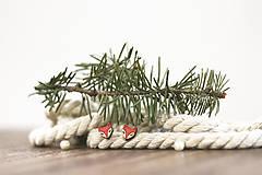 Náušnice - Líščatá mini napichovačky - 10691806_