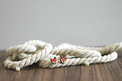 Náušnice - Líščatá mini napichovačky - 10691809_