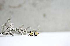 Náušnice - Líščatá mini napichovačky - 10691810_